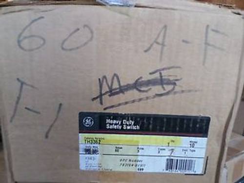 (1) GE TH3362 HEAVY DUTY SAFETY SWITCH 60 AMP 3 POLE FREE US SHIPPING