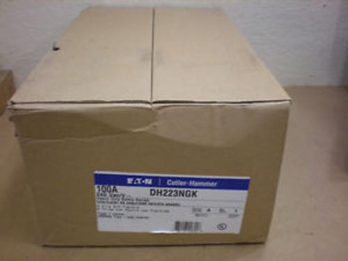 1 NIB CUTLER HAMMER DH223NGK 100 AMP 240 VAC SINGLE PHASE W/GROUND SAFETY SWITCH
