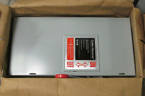 NIB...EATON Heavy Duty Fusible Safety Switch 100A, 240V Cat# DH323NGK .. VY-102