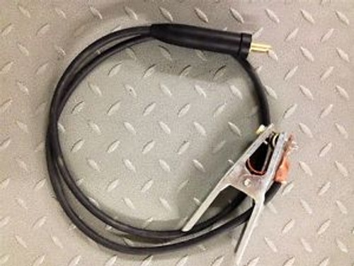 #1 AWG 200 FT WELDING CABLE GROUND CLAMP WITH MALE LENCO STYLE - 240 AMPS