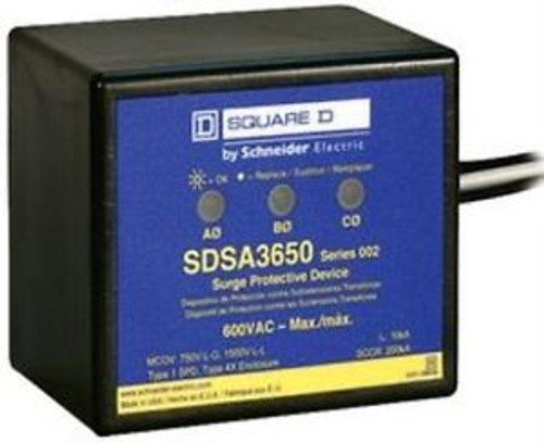 52T5019 Square D By Schneider Electric Sdsa3650D Surge Suppressor, 40Ka, 600V