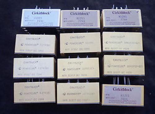 ( 12) Various Cirkitblock Powercubes