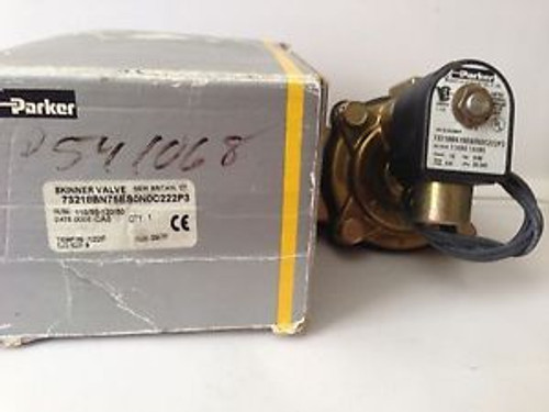 Parker 2-way N.C. solenoid 1-1/2 NPT  Skinner Valve 73218BN75ES0N0C222P3