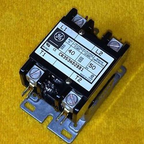 NEW GE CR353AD2BB1 40 AMP 2-POLE DEFINITE PURPOSE CONTACTOR 208/240 V COIL