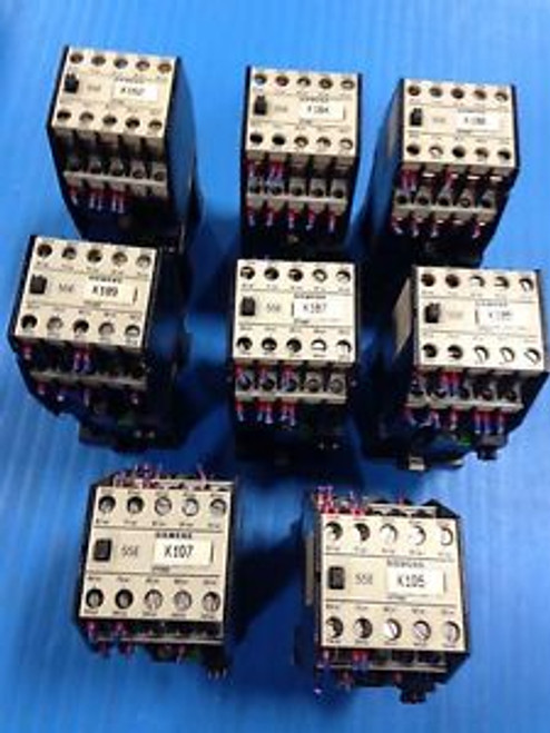 LOT OF 10 SIEMENS 3TH8355-0B CONTACTOR 3TH83 55E USED (E7)