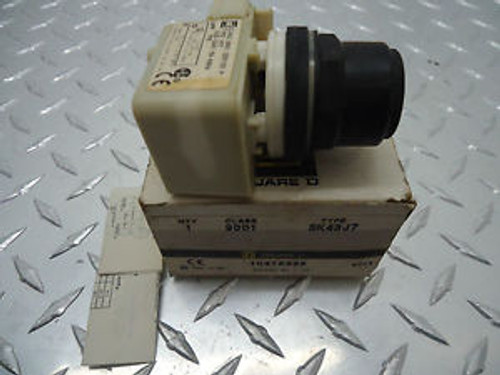 SQUARE D 9001-SK43J7 MAINTAINED 3 POSITION ILLUMINATED OPERATOR NEW