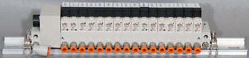 SMC VV3Q11-16CS0-D Manifold w/16: VQ110Y-5F Solenoid Valves/Valve