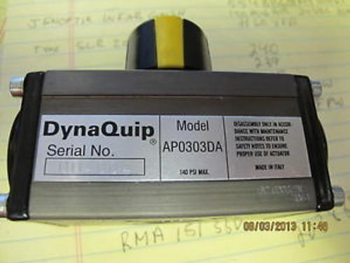 DYNAQUIP AP0303DA PNEUMATIC ACTUATOR 142PSIG 10BAR -4-176DEG F