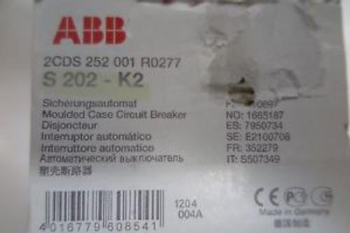 (5)abb moulded case circuit breaker S202-K2/2CDS252001R0277