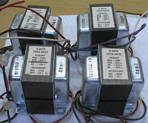 75VA Transformer 460 to 24 volt control power with taps