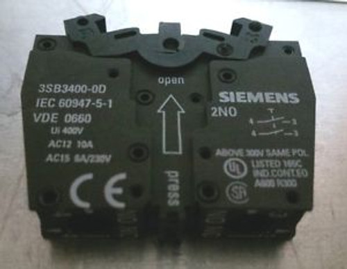 10 New ( 1 BOX ) Siemens 2 NO Contact Block 3SB3400-OD