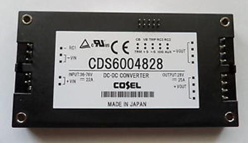 Cosel CDS6004828 Converter 28V 25A 48VDC 17A (Typ.) 61mm Wx12.7mm Hx116.8mm D