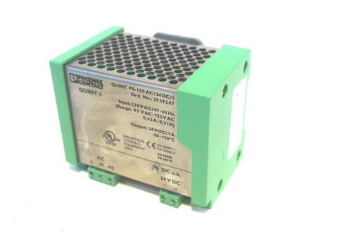 1 PHOENIX CONTACT QUINT-PS-120AC/24DC/1 QUINTPS120AC24DC1 POWER SUPPLY