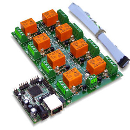 Eight8 Channel Way Relay Board for Remote Management & Control - SNMP, Web, IP
