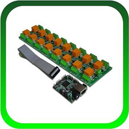 Internet / Ethernet IP 16 Channel Relay Board for Motors, Lights, Doors control