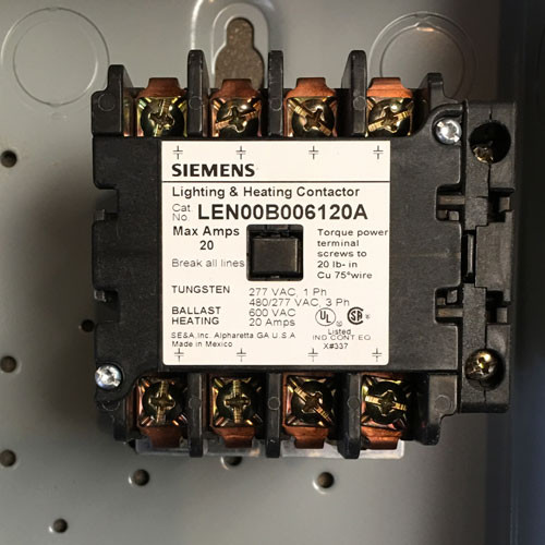Siemens LEN01B006120A 20 Amp 6 Pole Lighting Contactor N1
