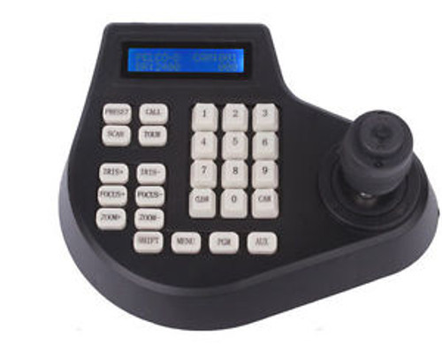 Dimension PTZ joystick 4 Axis cctv keyboard controller for ptz Speed Dome Camera