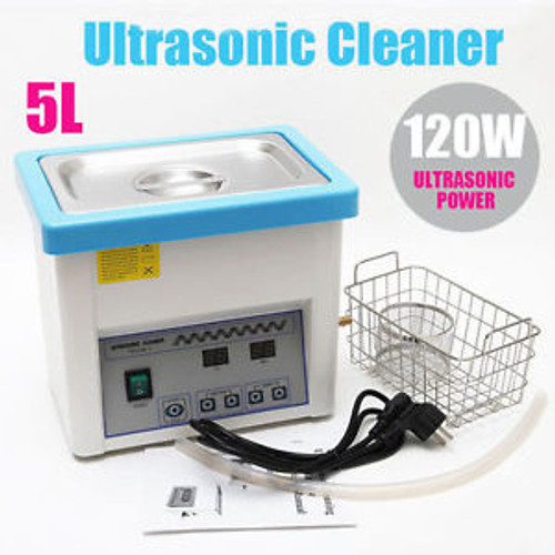 4.5L Ultrasonic Cleaner Cleaning Stainless Steel Machine Heated Timer withBasket