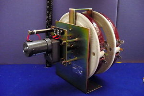 MASSIVE OHMITE CORP. MOTOR DRIVE DUAL WIRE-WOUND RHEOSTAT ASSEMBLY W/RAE MOTOR