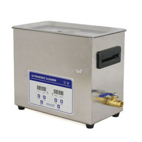 New Stainless Steel 6,5 L Liter Industry Heated Ultrasonic Cleaner Heater Timer