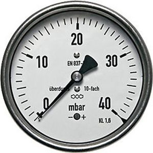 160 Mm Manometer 0/60 Mbar G 1/2 To 10-Times Overloadable