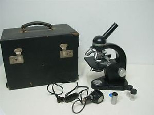 Vintage Ernst Leitz Gmbh Wetzlar Germany 517871 Microscope With Case