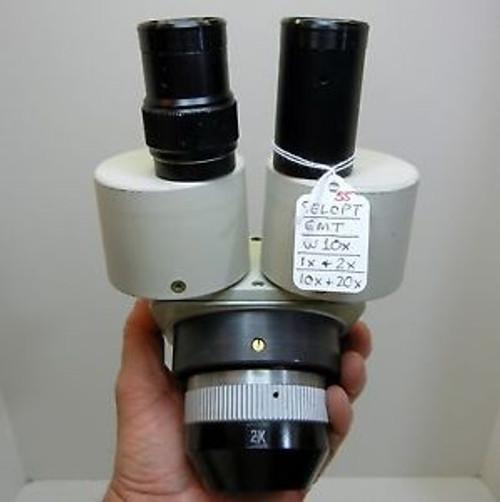 SELOPT EMT Microscope, W10X Eyepieces Dual 10X or 20X, 84mm Head NICE OPTICS #55