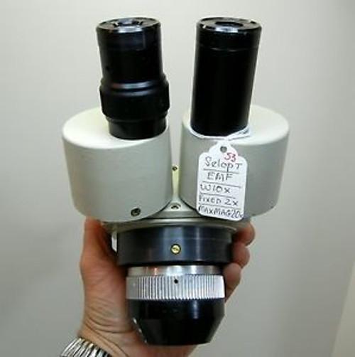 SELOPT EMF Microscope, W10X Eyepieces 20X Max Mag, 84mm Head, NICE OPTICS #53