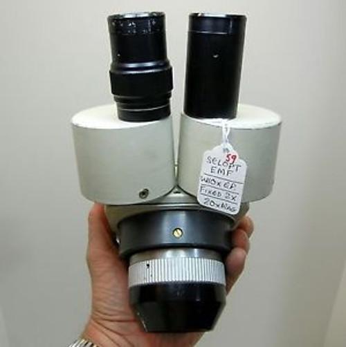 SELOPT EMF Microscope, W10X Eyepieces 20X Max Mag, 84mm Head, NICE OPTICS #59
