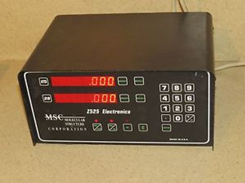 MSC MOLECULAR STRUCTURE CORP Z525 ELECTRONICS CONTROLLER BOX -XY DISPLAY