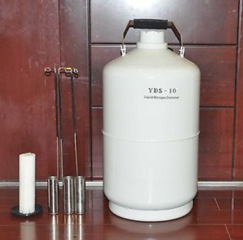 10 L Liquid Nitrogen Ln2 Tank+ Straps Cryogenic Container T-4