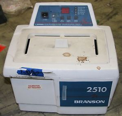 (1) Used Branson 2510 Ultrasonic Digital Bench Top Cleaner 3/4 Gallon