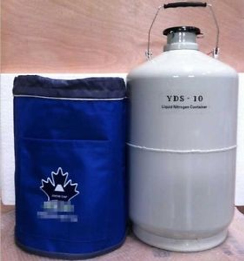 10 L Liquid Nitrogen Ln2 Tank+ Straps Cryogenic Container S-4