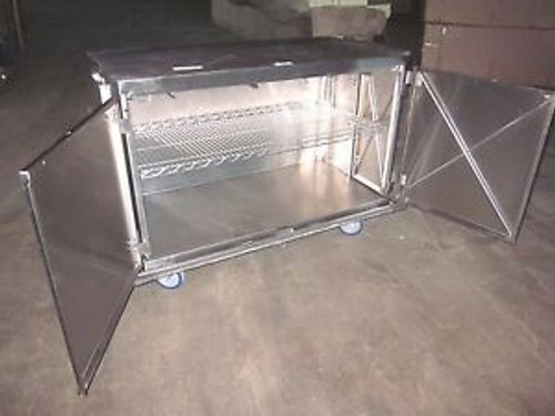 Metro Stainless Steel Case Cart Storage Cabinet Medical Laboratory Lab Portable