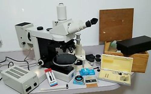 Carl Zeiss Jenavert POL Polarizing Metallurgical Microscope