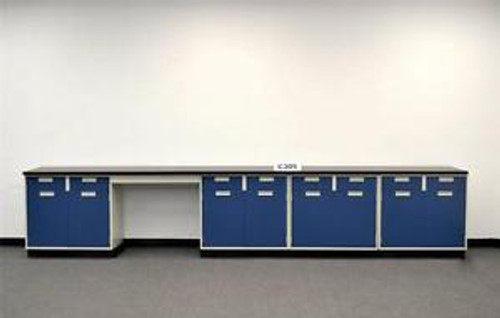 15 Base Laboratory Cabinets w/ Chemical Resistant Counter Tops (C305)