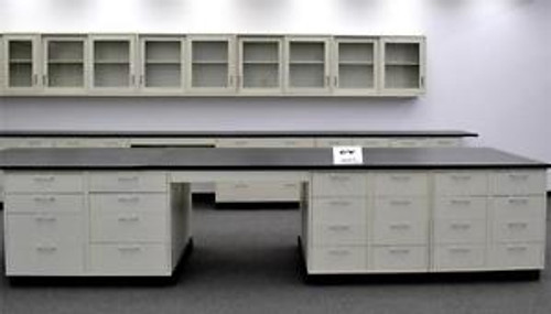 26 Island Laboratory Cabinets Group w/ Industrial Grade Counter Tops (CV OPEN3)