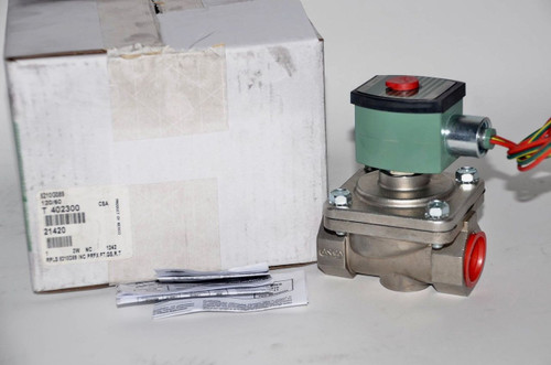 "Asco 8210G089 120/60Ac 2-Way Stainless Steel 1"" Solenoid Valve Red Hat"