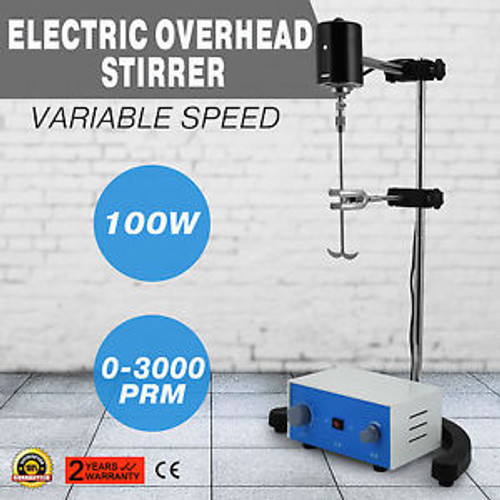 Electric overhead stirrer mixer 100W New analysis room easy operation GOOD