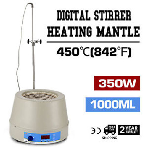 1000Ml Electric Digital Lcd Magnetic Stirring Heating Mantle  Fast Warm-Up 450