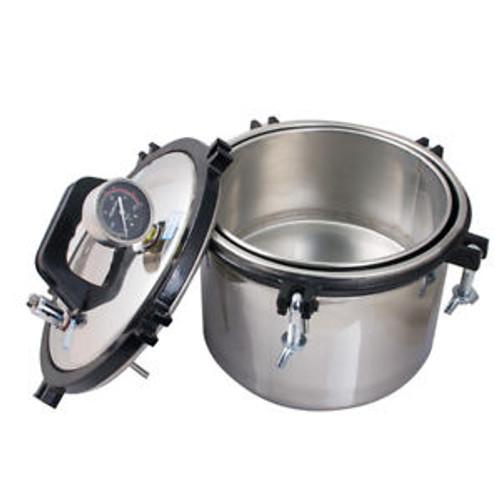 110V / 220V 8L Portable Pressure Steam Autoclave Sterilizer Dental Equipment