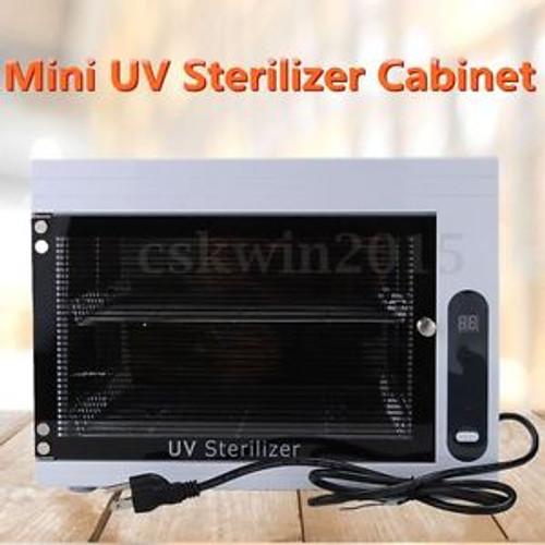 110V 15L Mini UV Sterilizer Cabinet Ozone-Ultraviolet Sterilization 26x20x17cm