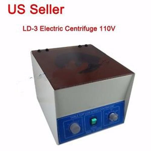 110V Benchtop LD-3 Electric Centrifuge Lab Medical Practice 4000rpm  650ml