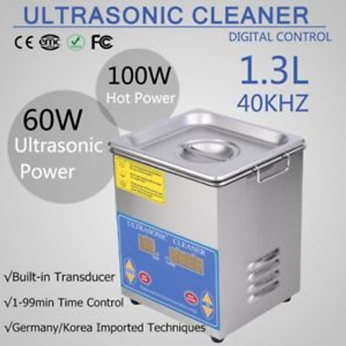 1.3L QT 60W DIGITAL HEATED INDUSTRIAL ULTRASONIC PARTS CLEANER HEATER WITH TIME