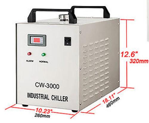 110V Cw-3000Dg Water Chiller For Laser Engraver With 60W / 80W Co2 Glasstube