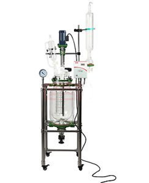 20L Jacketed Glass Chemical Reactor,Glass Reaction Vessel