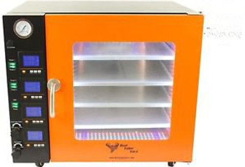 3.2CF BVV Vacuum Oven- 4 Individually Heated Shelves- LCD Display and LEDs