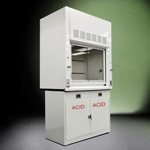 - 4 - Chemical Laboratory  Fume Hood w/ Epoxy Top and acid Cabinet  ..