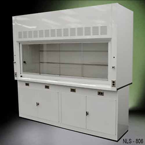 - Chemical Laboratory EIGHT FOOT Fume Hood WITH GENERAL STORAGE CABINETS NEW-