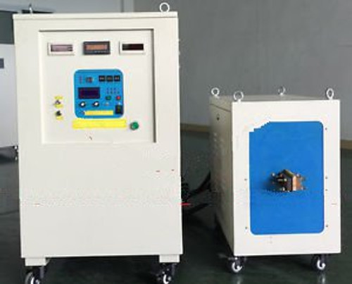 100KW 20-50KHz Dual Station Super Audio Frequency Induction Heater Melter